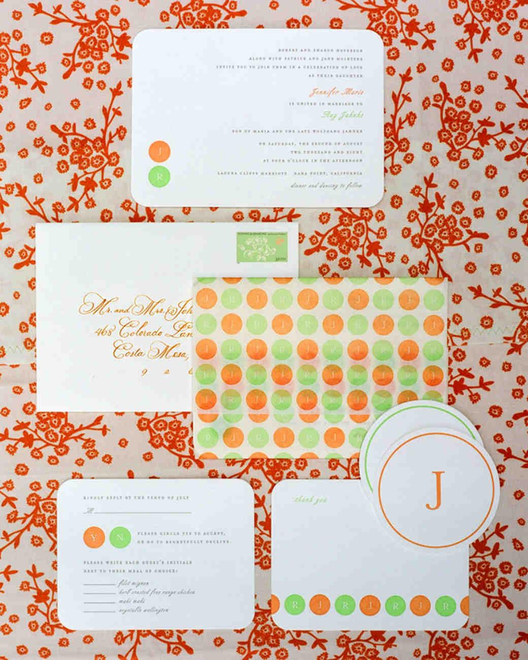 dot wedding invitation