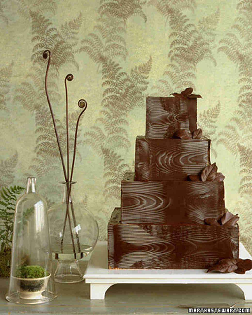 Martha Stewart Weddings: Making Chocolate Woodgrain Recipe