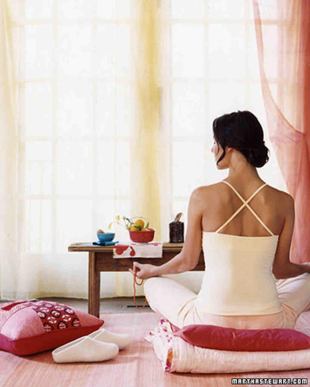 woman yoga pose meditate