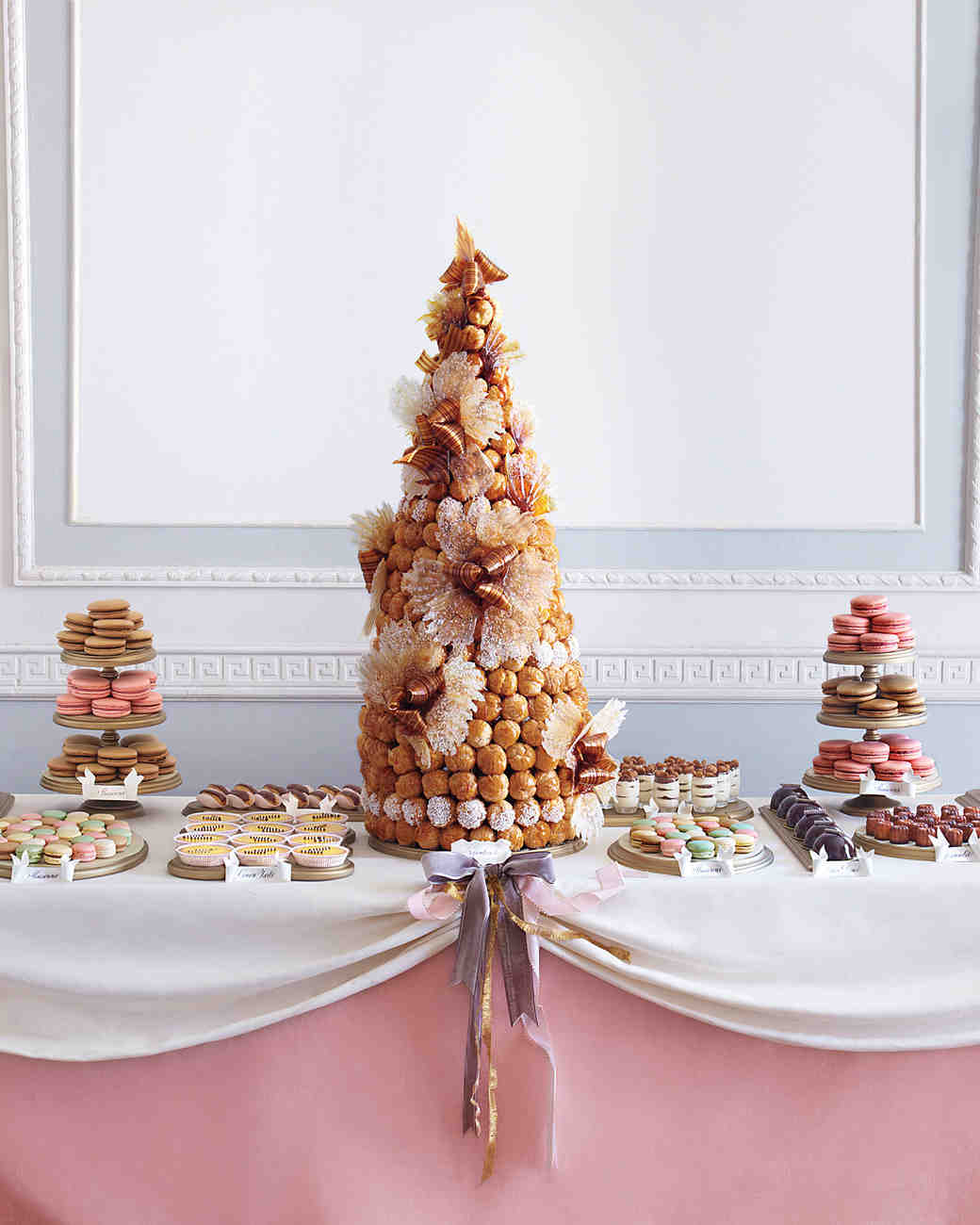 Dessert Table Wedding Cake: A French-Inspired Vintage Wedding In New York