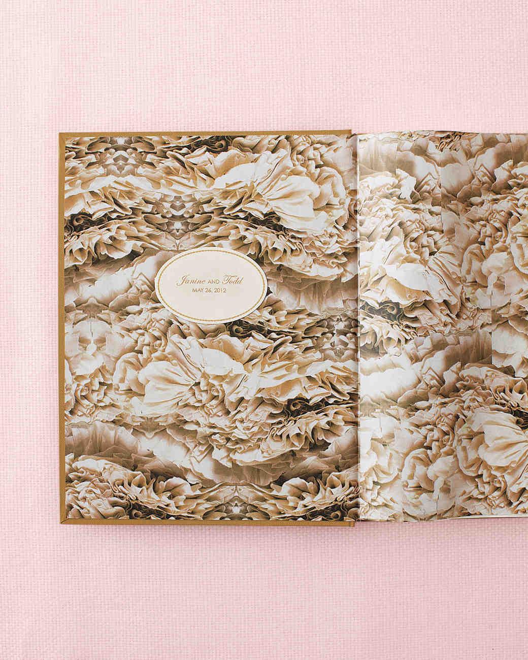 Free Wedding Invitation Books - Oval guest book label