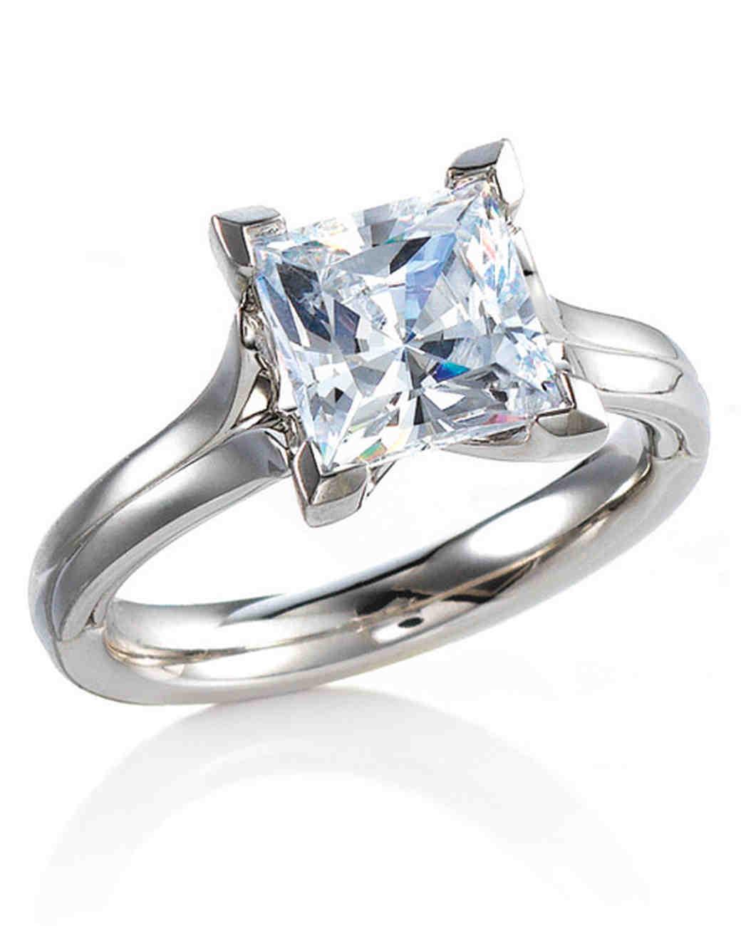 MaeVona Princess-Cut Engagement Ring