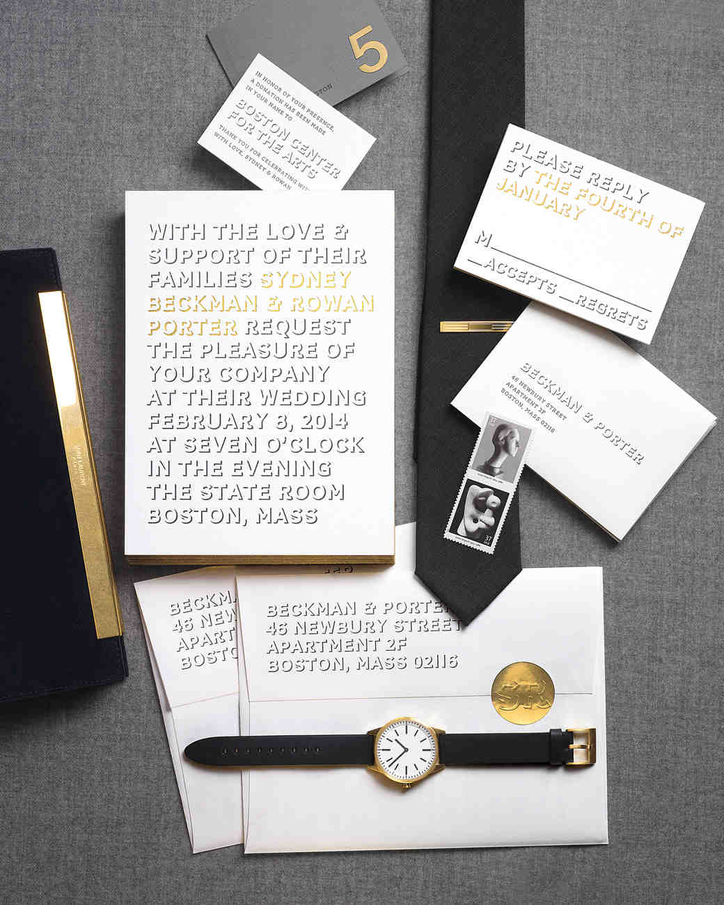 Wedding Invitations Inspired By Our Favorite Fashion