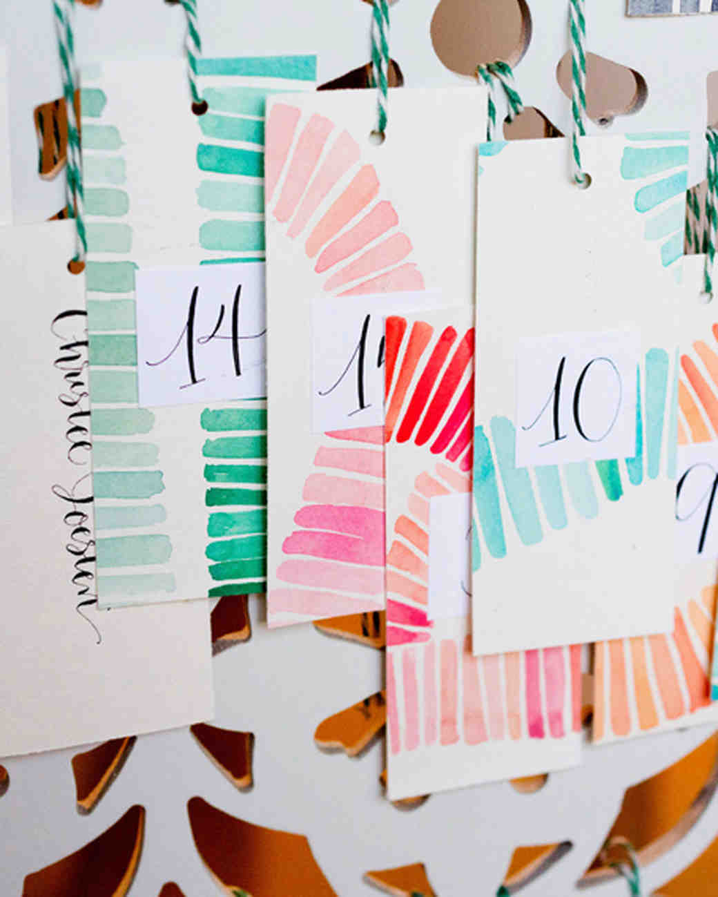 Watercolor Table Tags