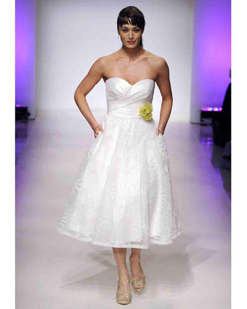 Short wedding dresses from spring 2012 bridal fashion week for Short spring wedding dresses