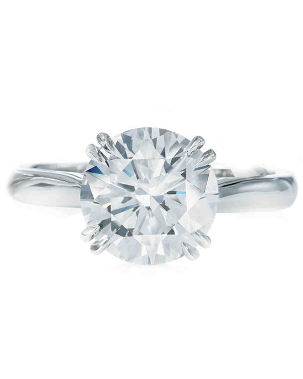 Round Solitaire Diamond Engagement Ring From Harry Winston