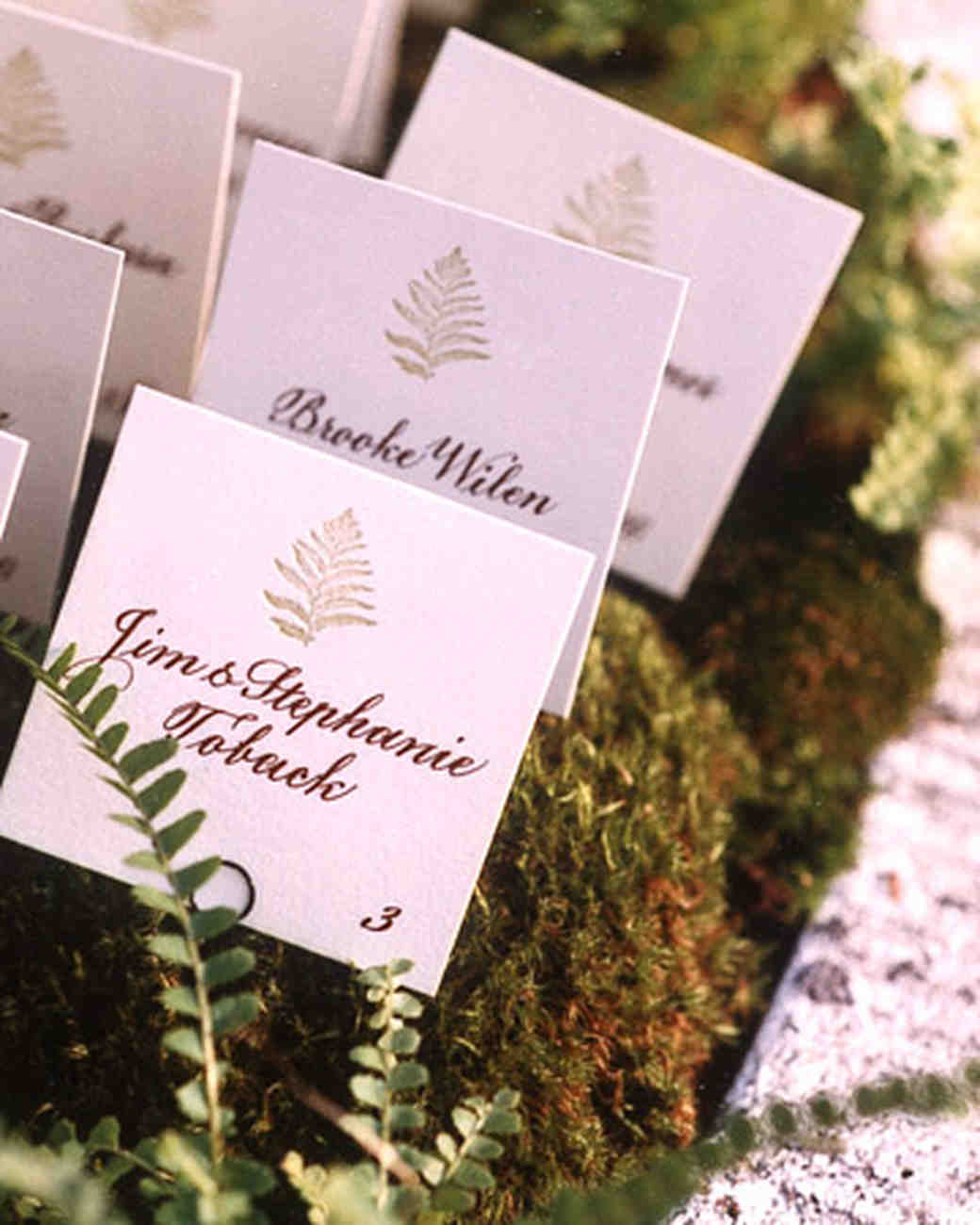 Fern Escort Cards