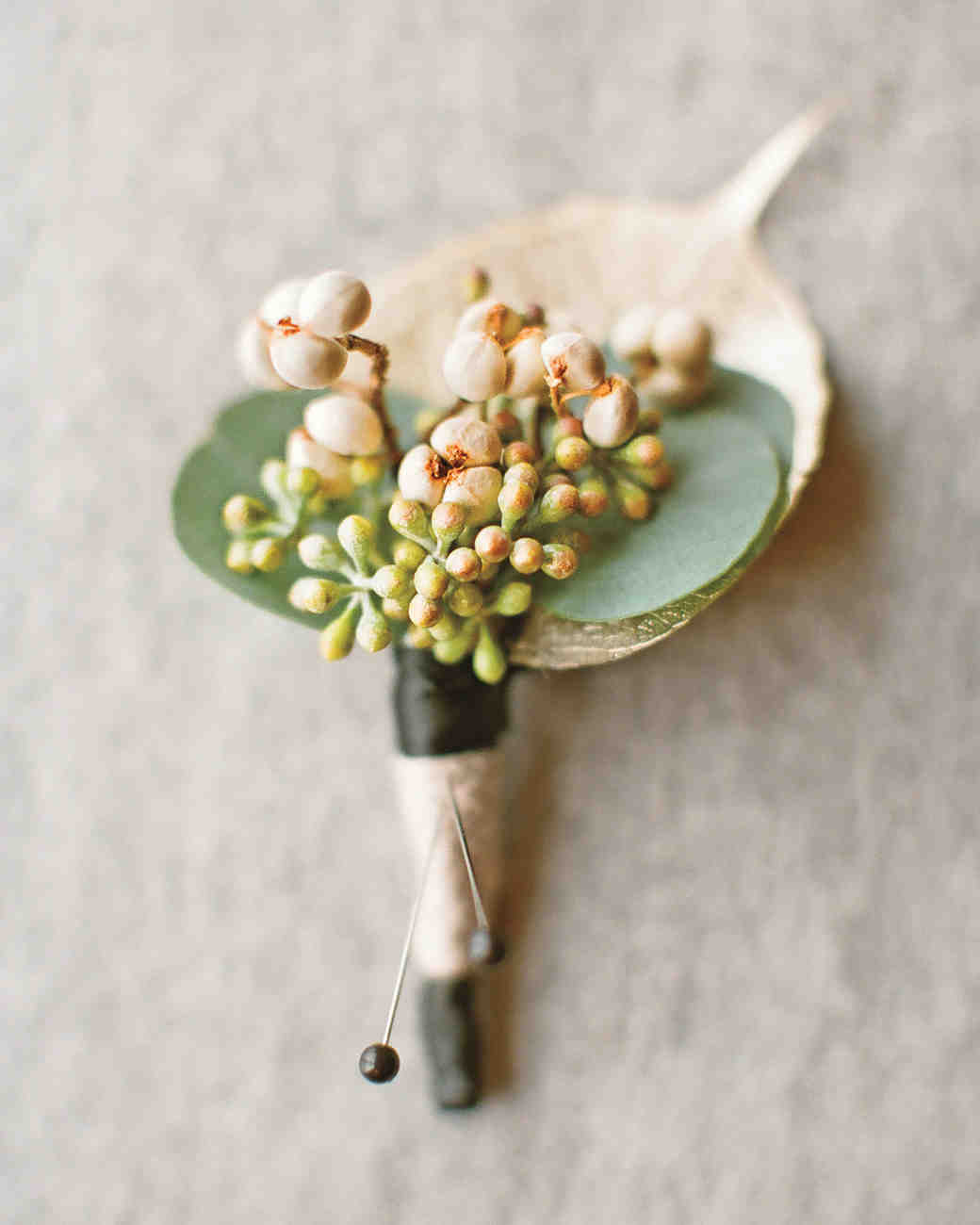 boutonnieres you both will love  martha stewart weddings, Natural flower