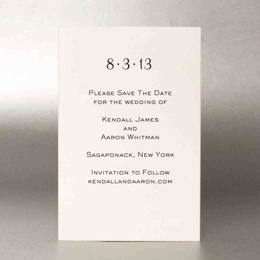 How to address save the dates in Melbourne