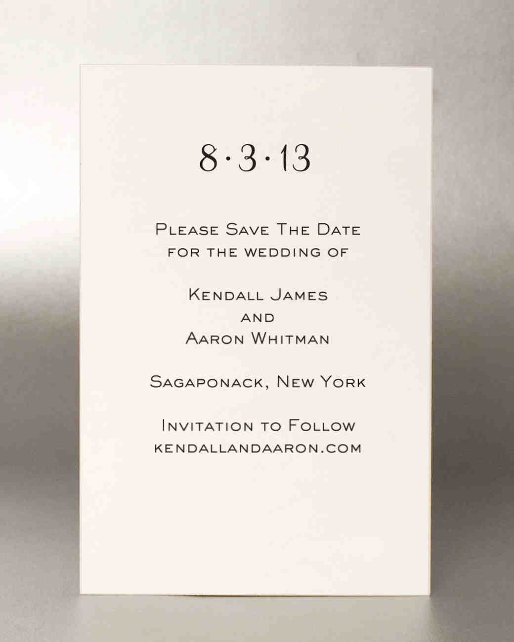 18 Classic Save-the-Dates | Martha Stewart Weddings
