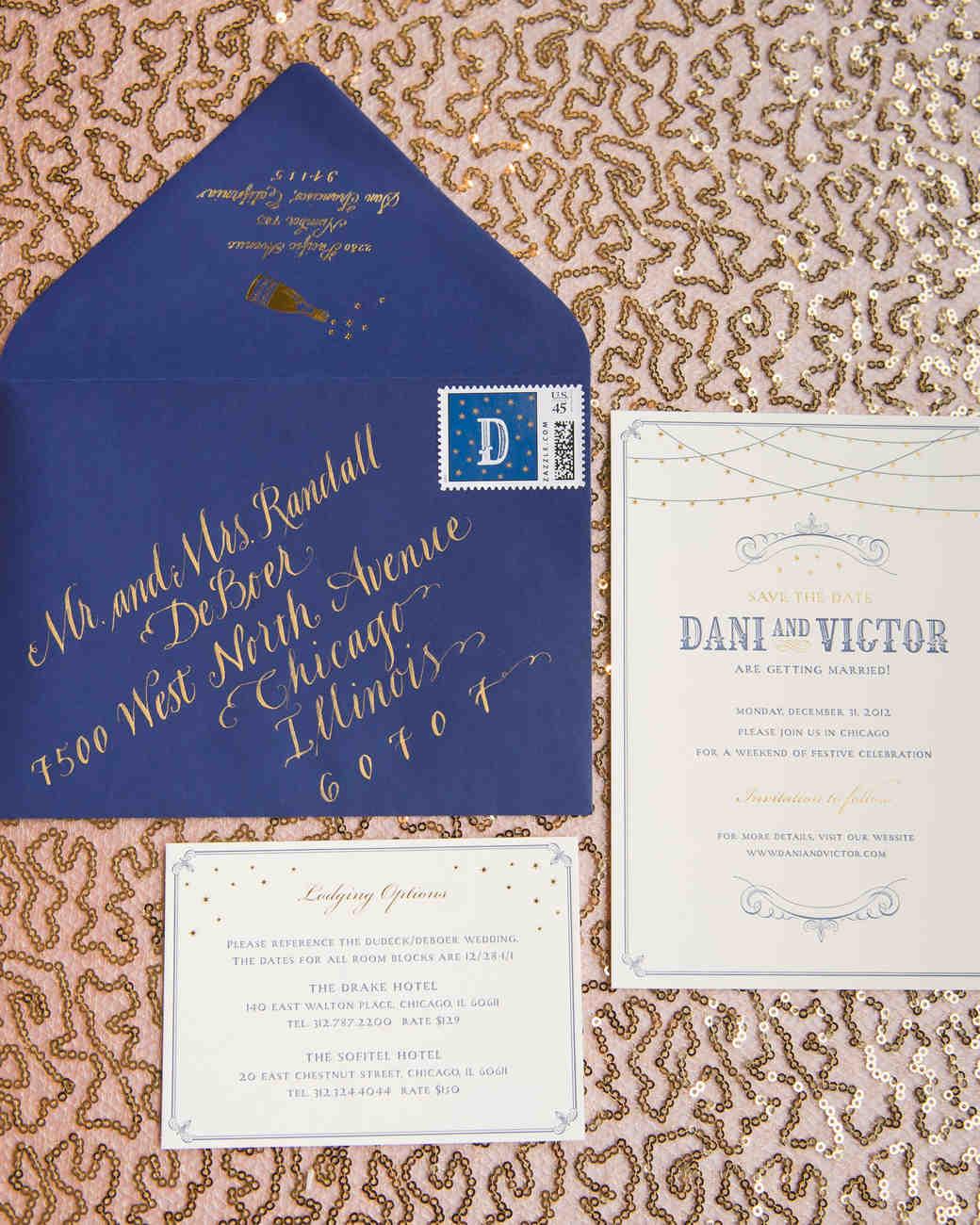 New Yearu0027s Eve Wedding Invitations