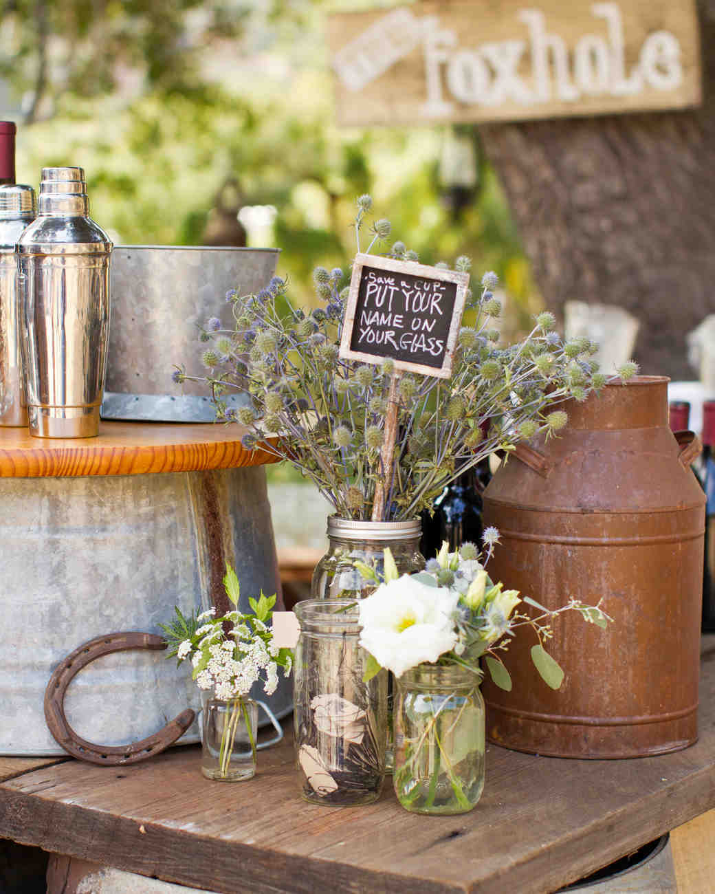 Country Wedding Centerpieces Ideas: A Vintage DIY Rustic Wedding On A Ranch In California