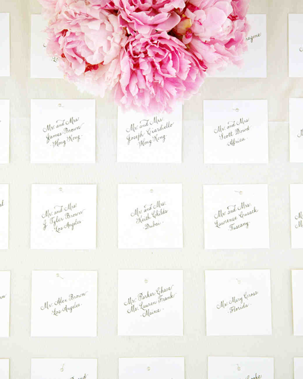 Favor Seating Cards And Displays