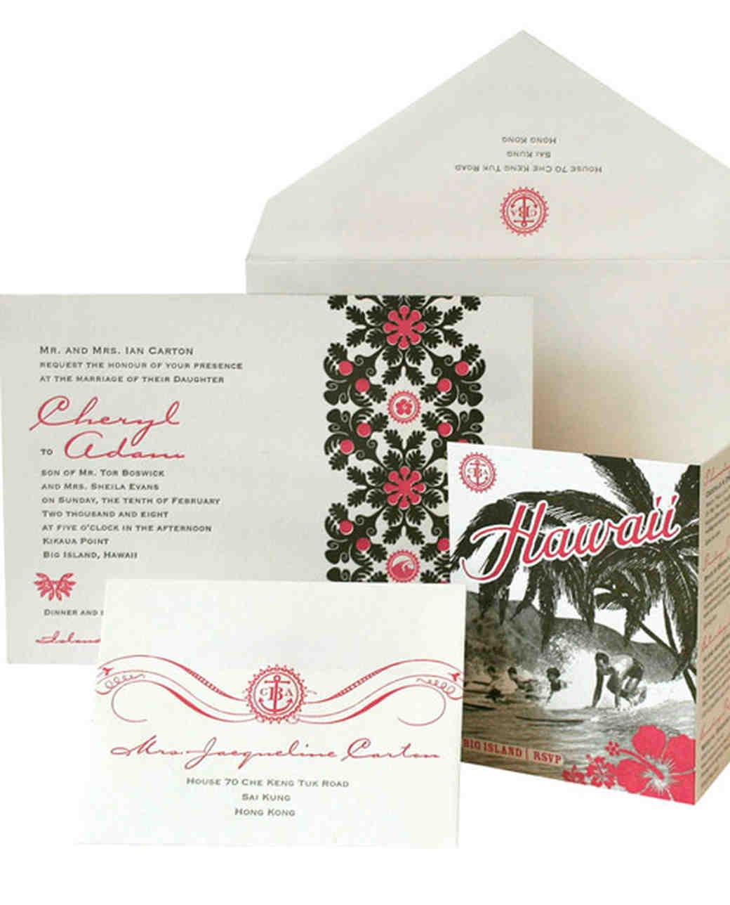 Destination inspired wedding invitations martha stewart for Wedding invitation kits martha stewart