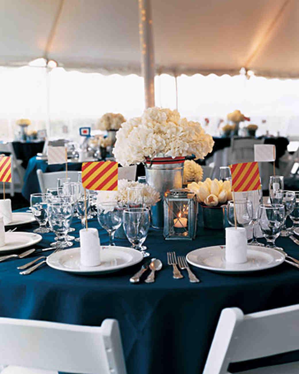 Nautical Table Settings Nautical Wedding Ideas Martha Stewart Weddings