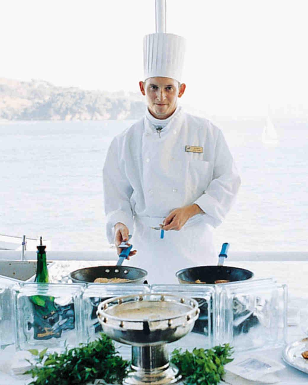 Wedding Chef Preparing Food