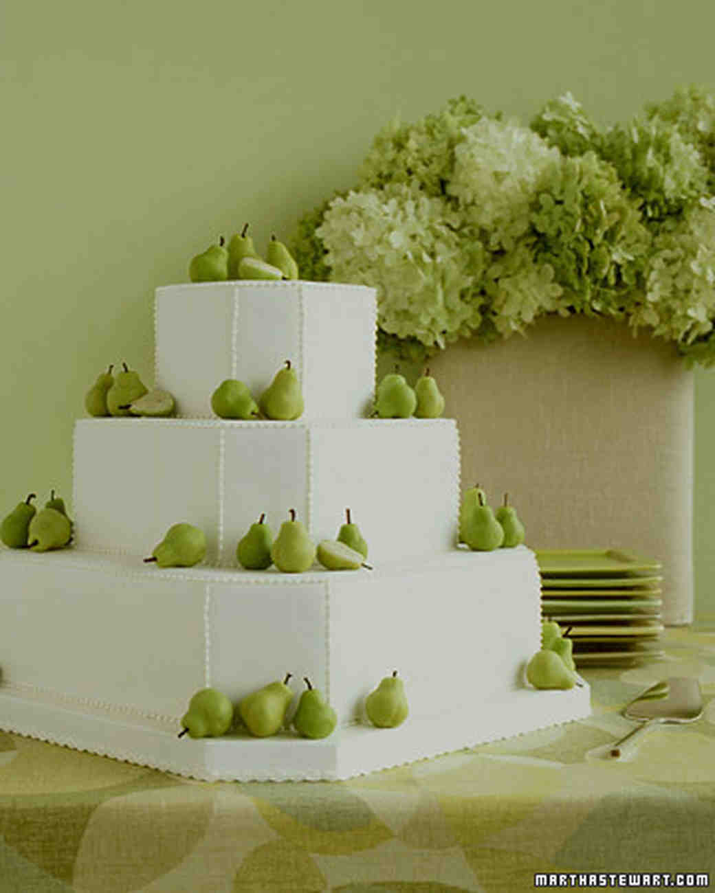 Green Pear Wedding Cake