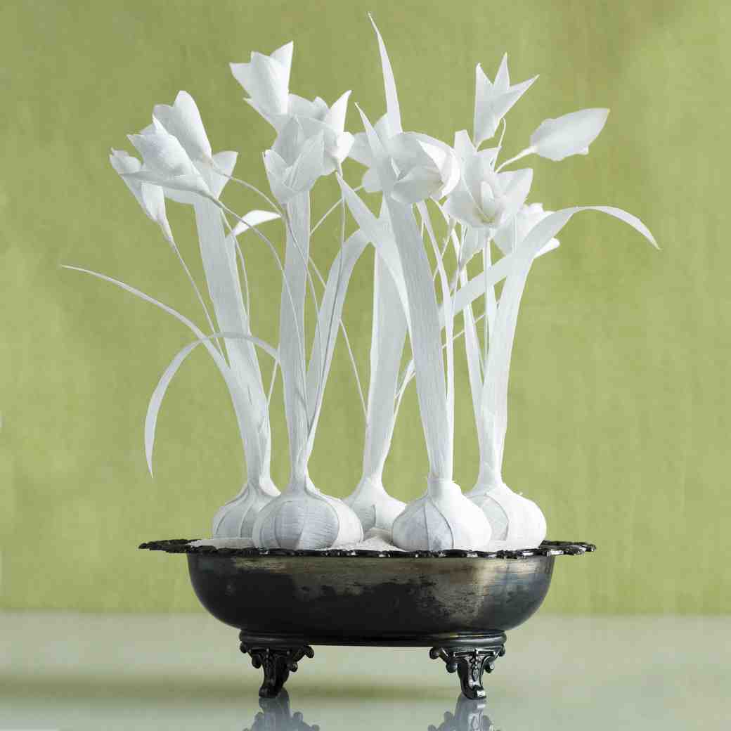 Crepe Paper Flower Bulbs