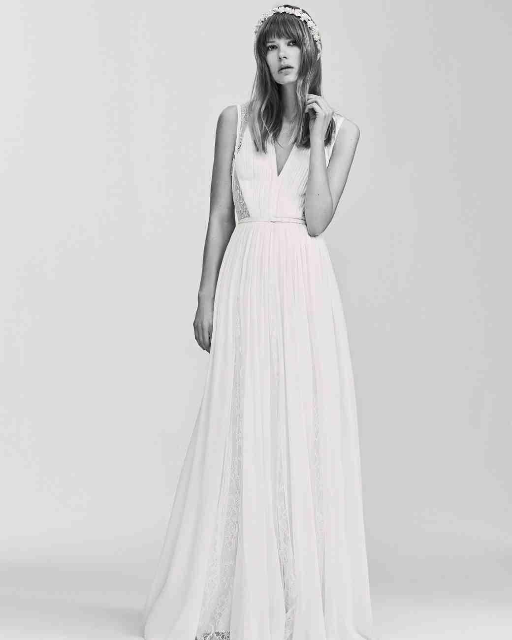 Elie Saab Simple Sleeveless Wedding Dress