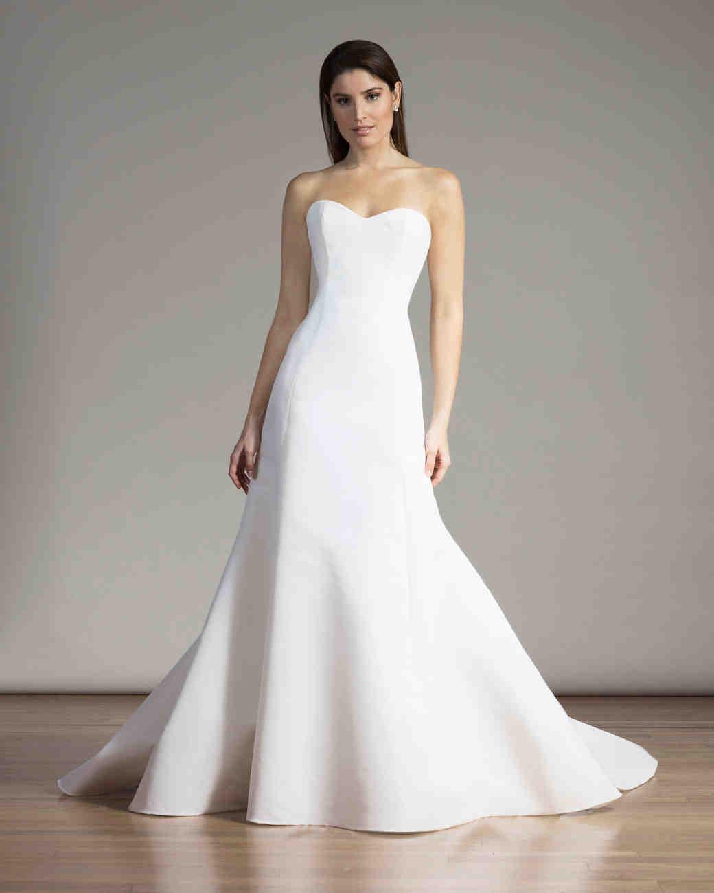 Liancarlo Simple All-White Wedding Dress
