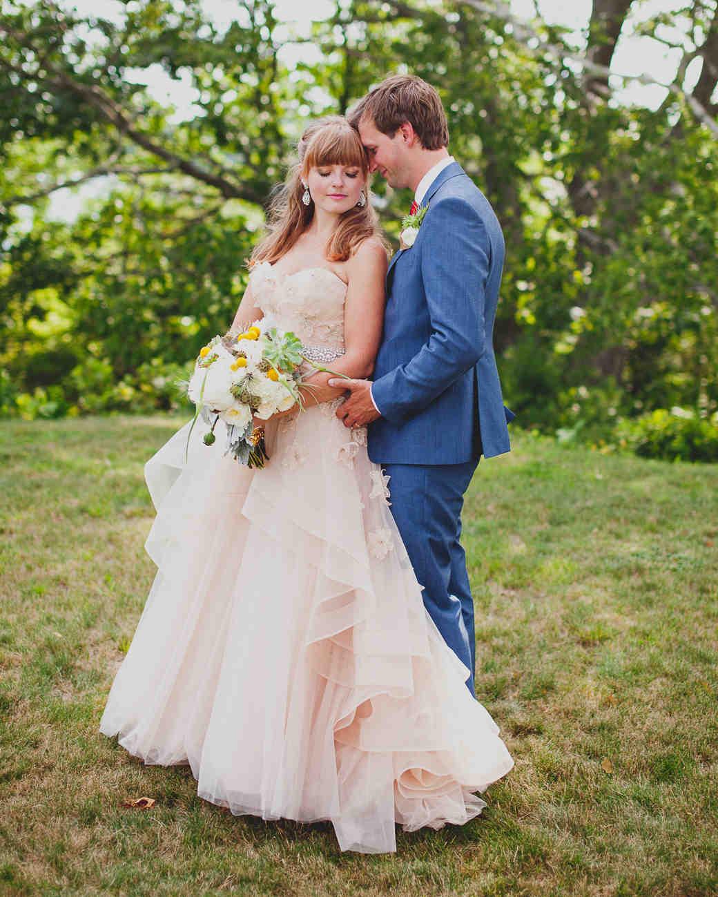 16 Pretty-in-Pink Wedding Dresses - Martha Stewart Weddings