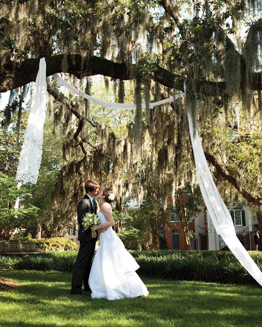 Whimsical Garden Wedding: A Whimsical Green Outdoor Destination Wedding In Savannah