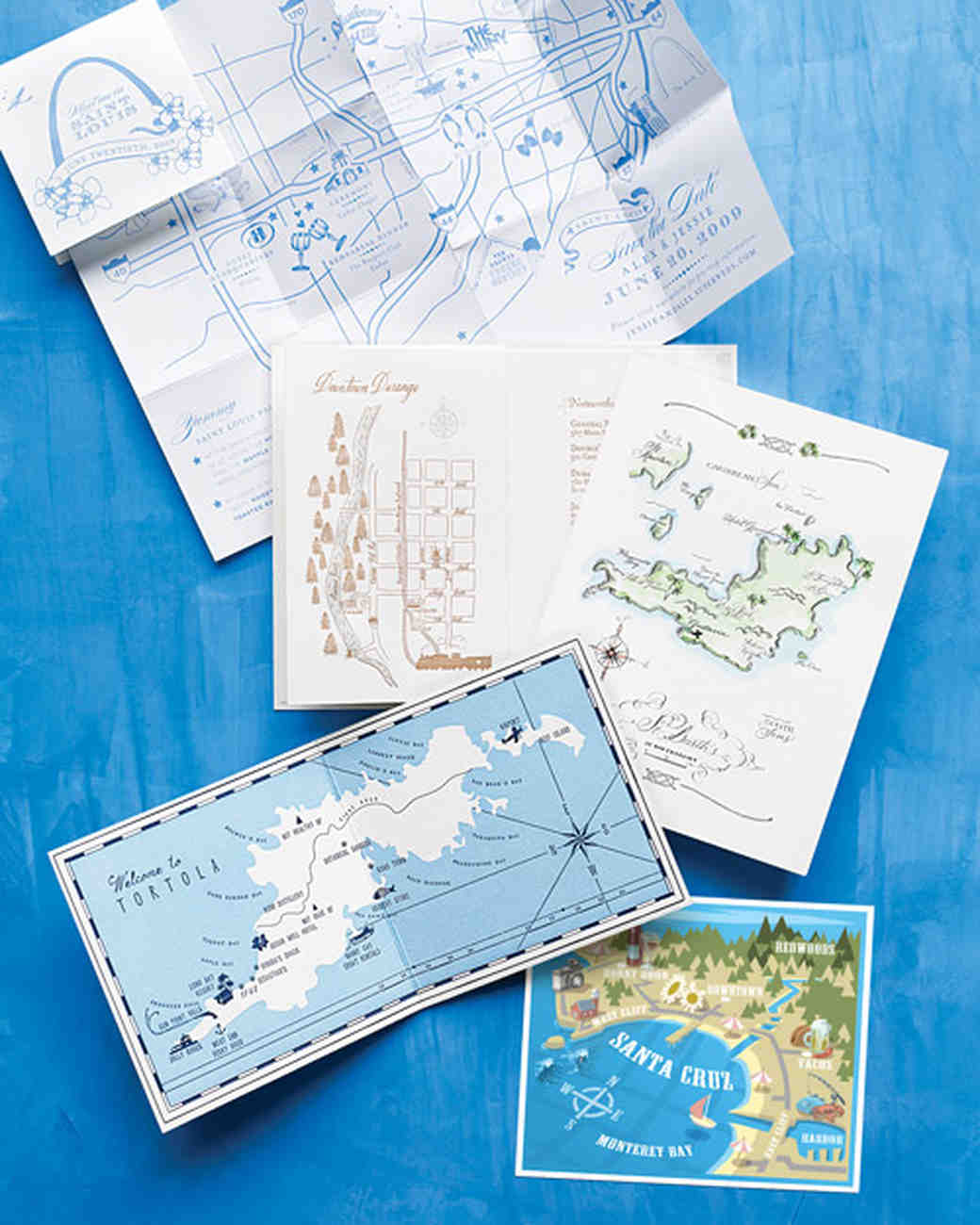Wedding Invitations With Maps: The Etiquette Of Wedding Invitation Enclosures