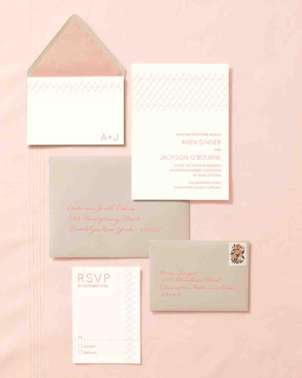 Wedding Invitations Inspired By Our Favorite Fashion Trends | Martha  Stewart Weddings