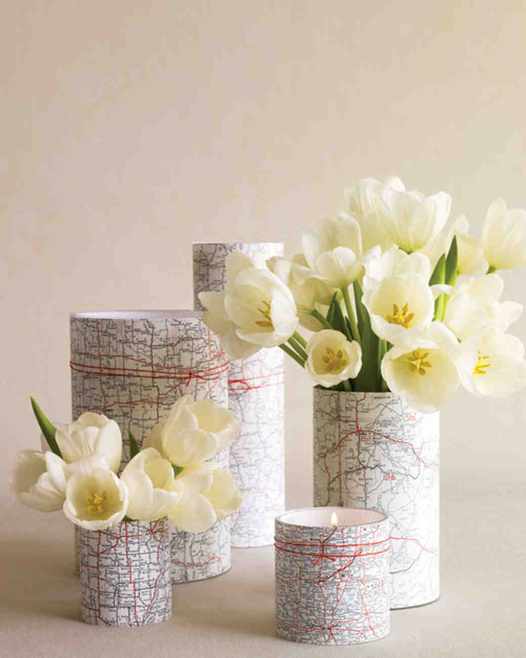 Map-Printed Vases