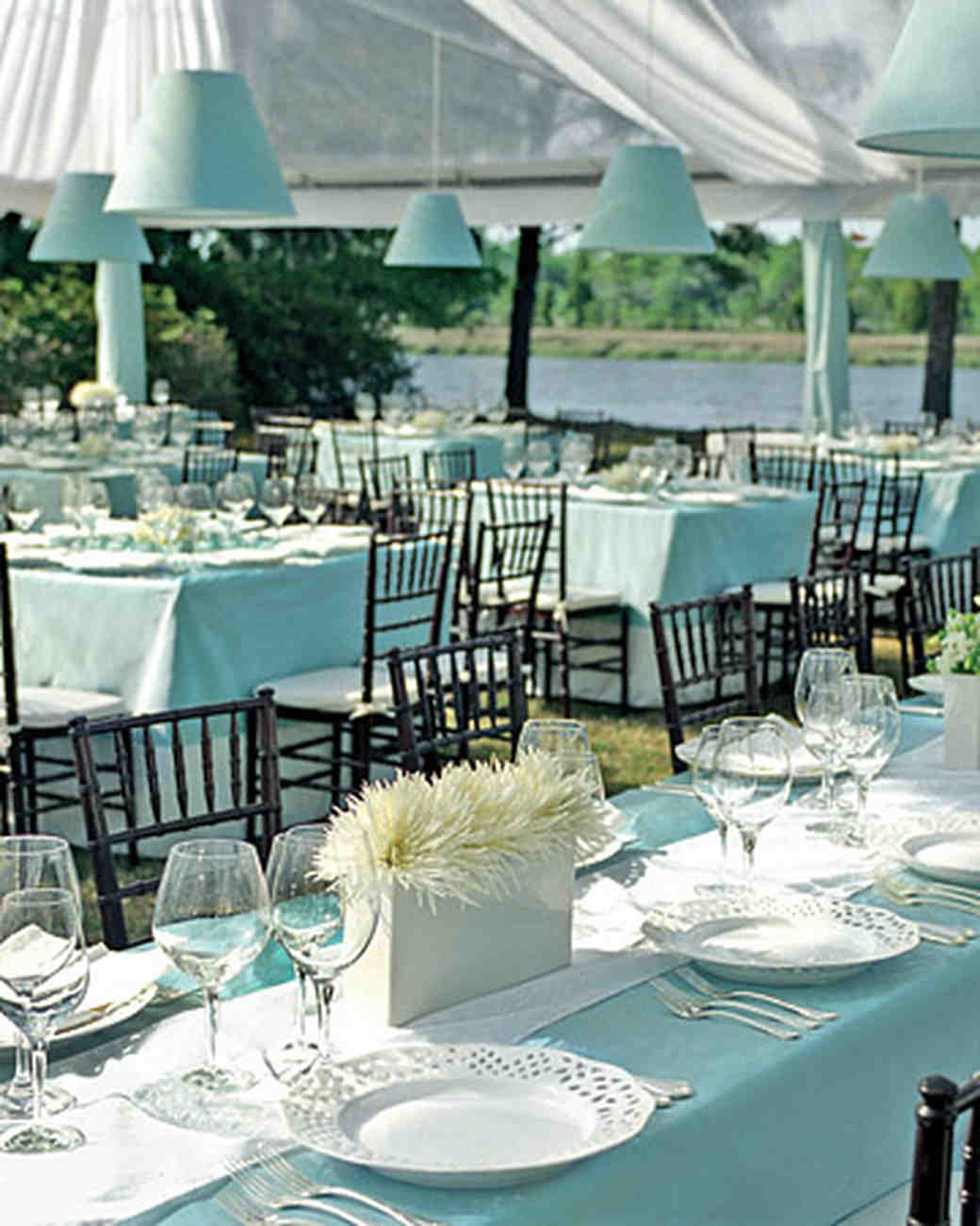 Tiffany Blue Wedding Decoration Ideas: A Formal Tiffany-Blue-and-White Wedding At A Plantation In