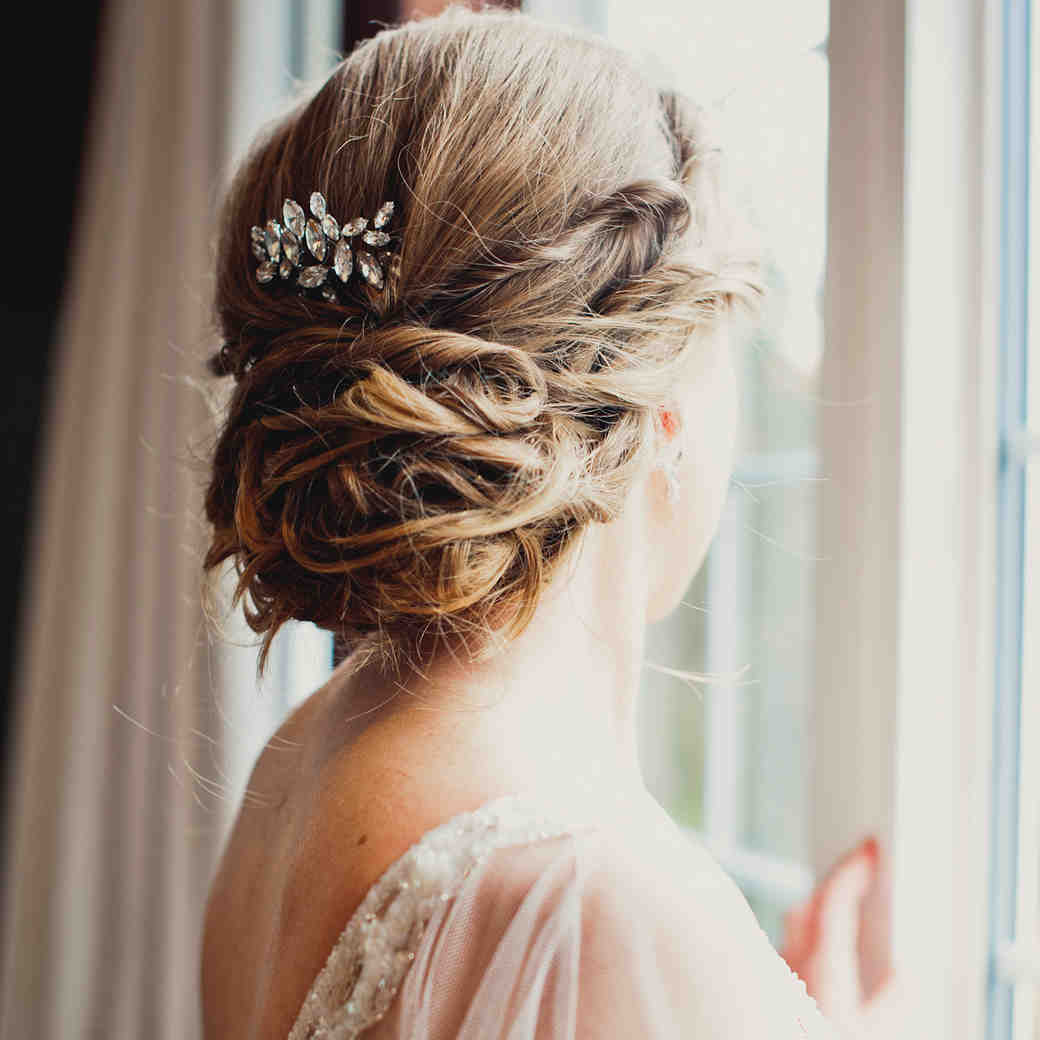 Wedding Hairstyle For Bride: Martha Stewart Weddings