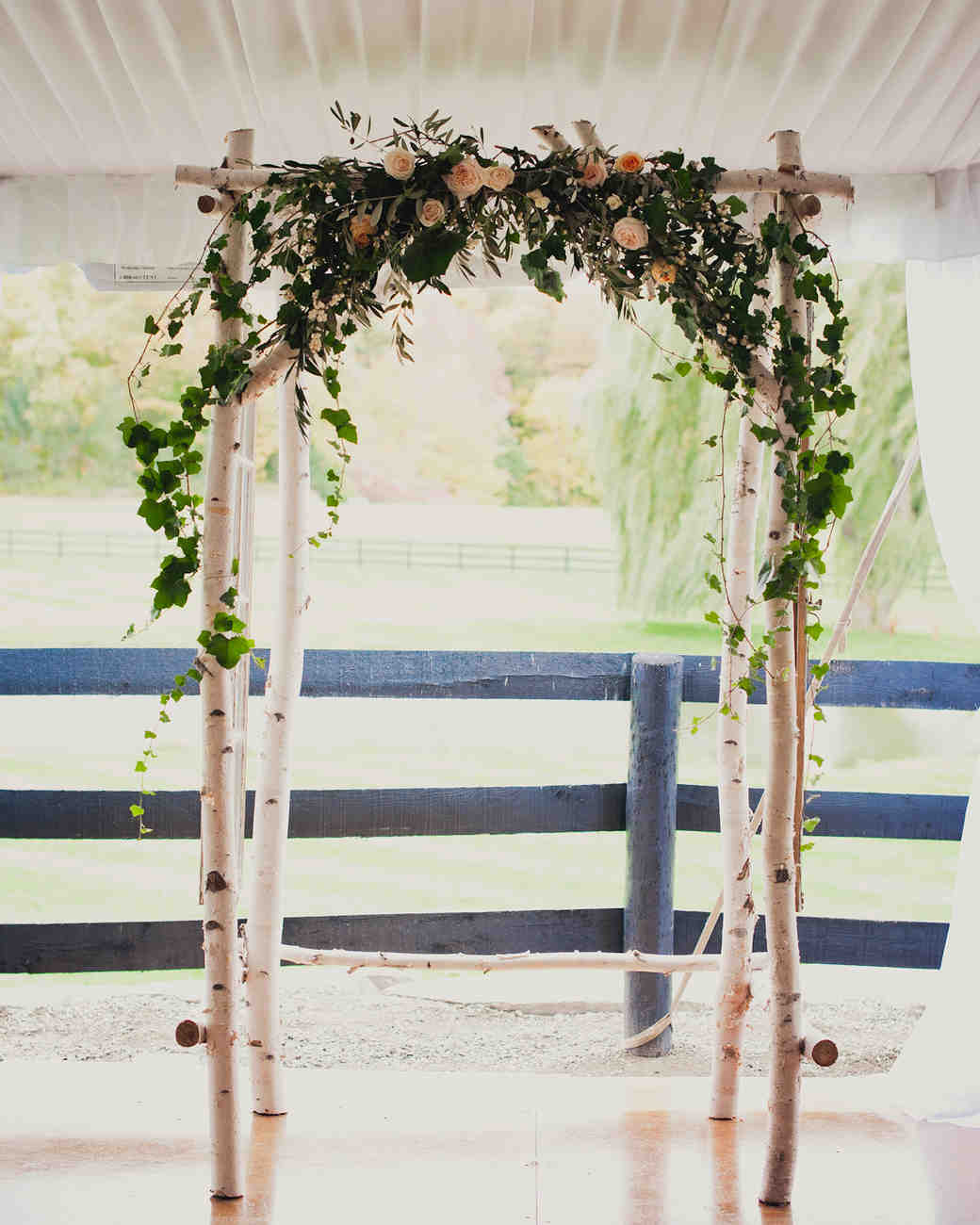 Birch and Greenery Wedding Arch
