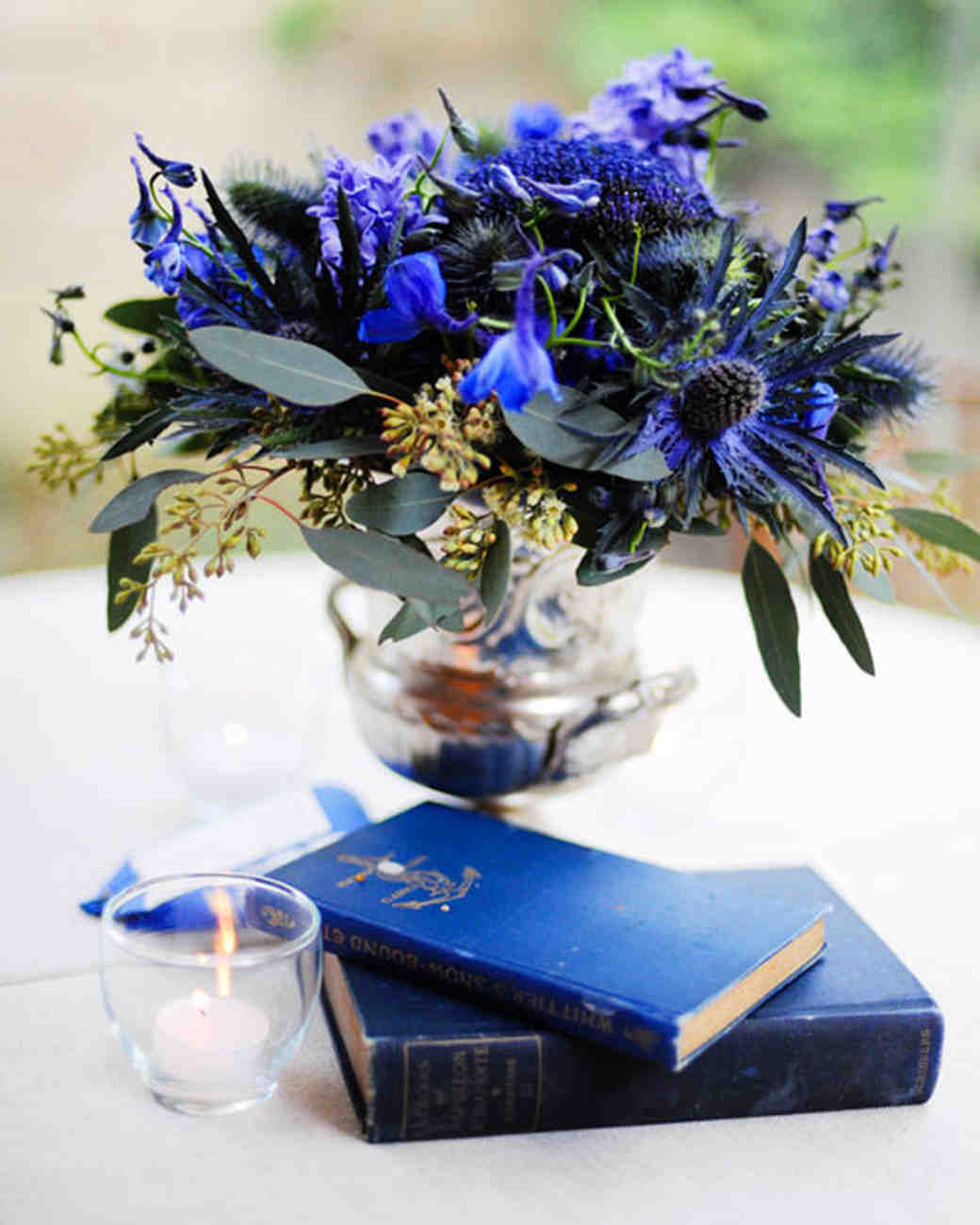 Royal Blue Wedding Centerpieces: Purple And Blue Wedding Centerpieces