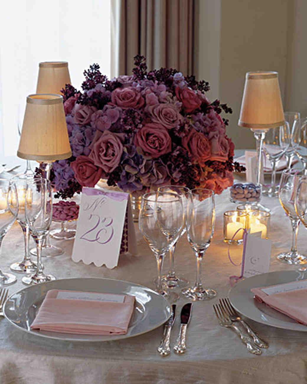Martha Stewart Weddings: Rose Wedding Centerpieces