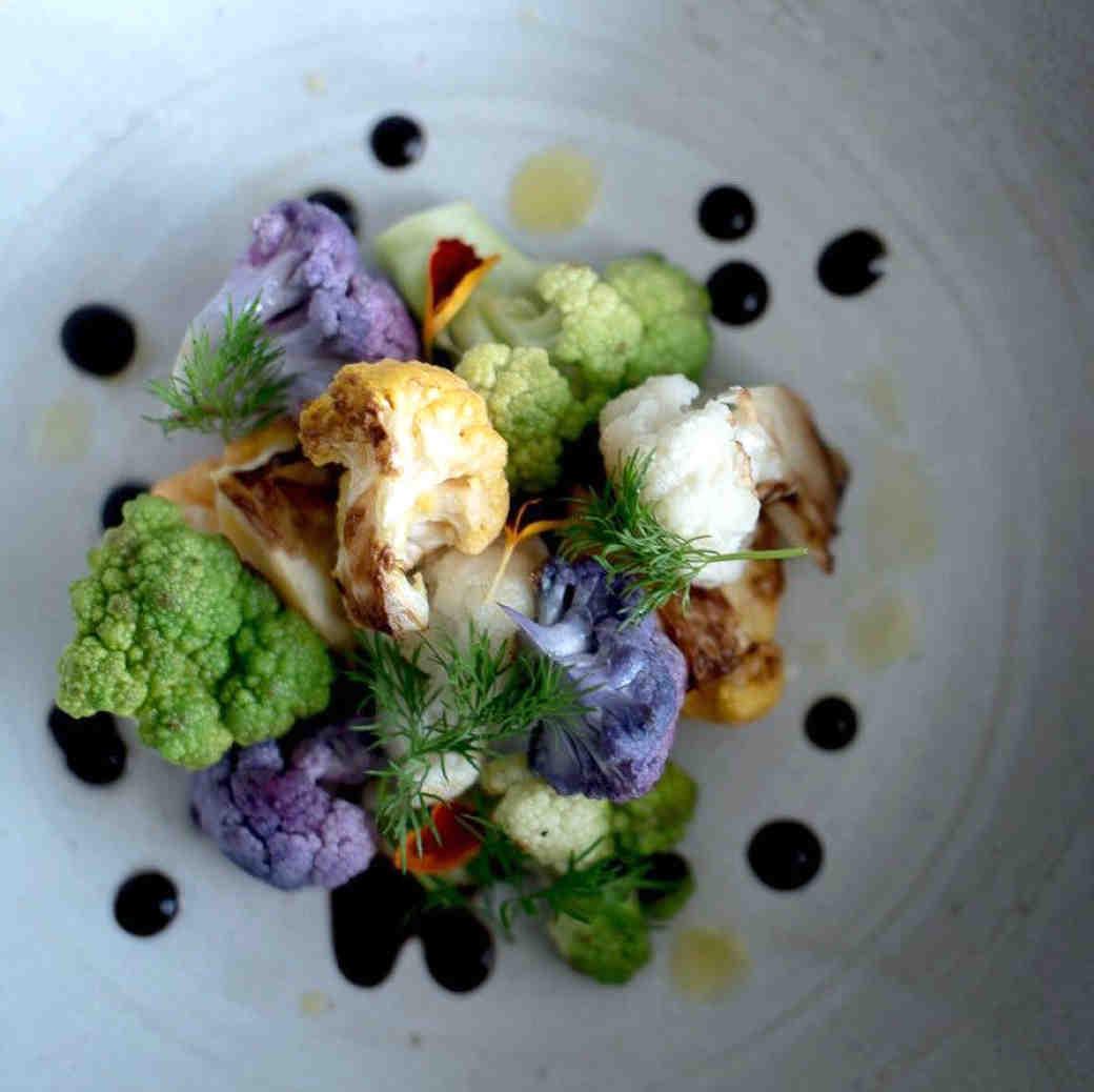 green purple cauliflower