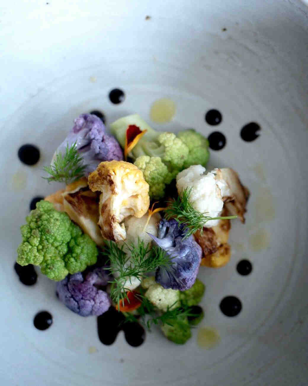 green purple cauliflower