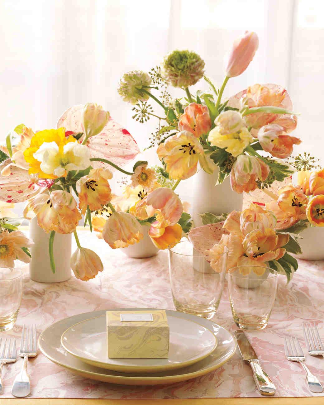 Martha Stewart Wedding Flowers Centerpieces : Elegant marbled wedding ideas martha stewart weddings