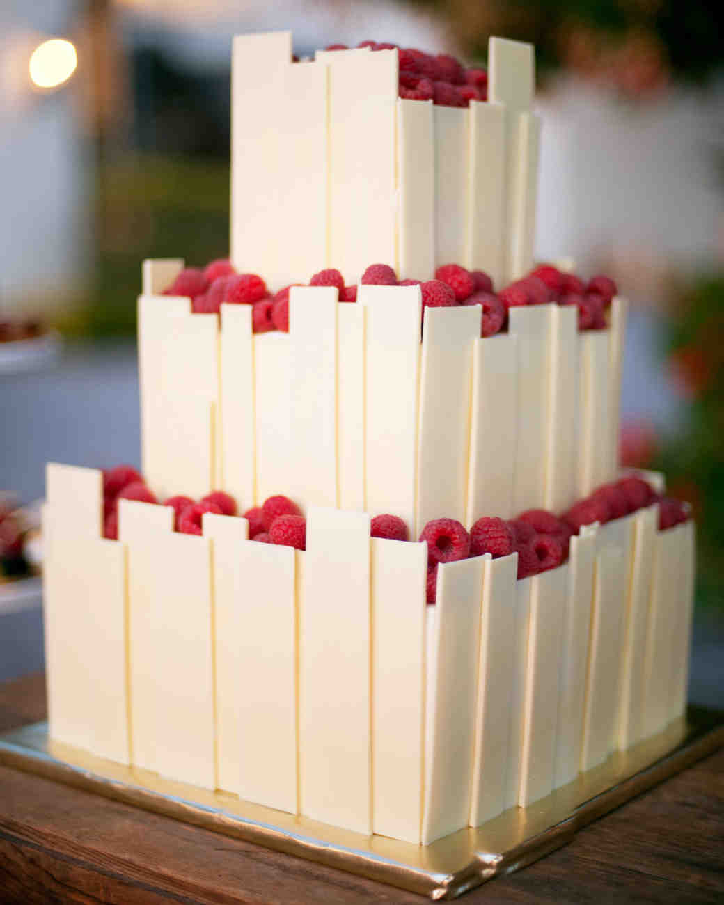 Raspberry Basket Wedding Cake