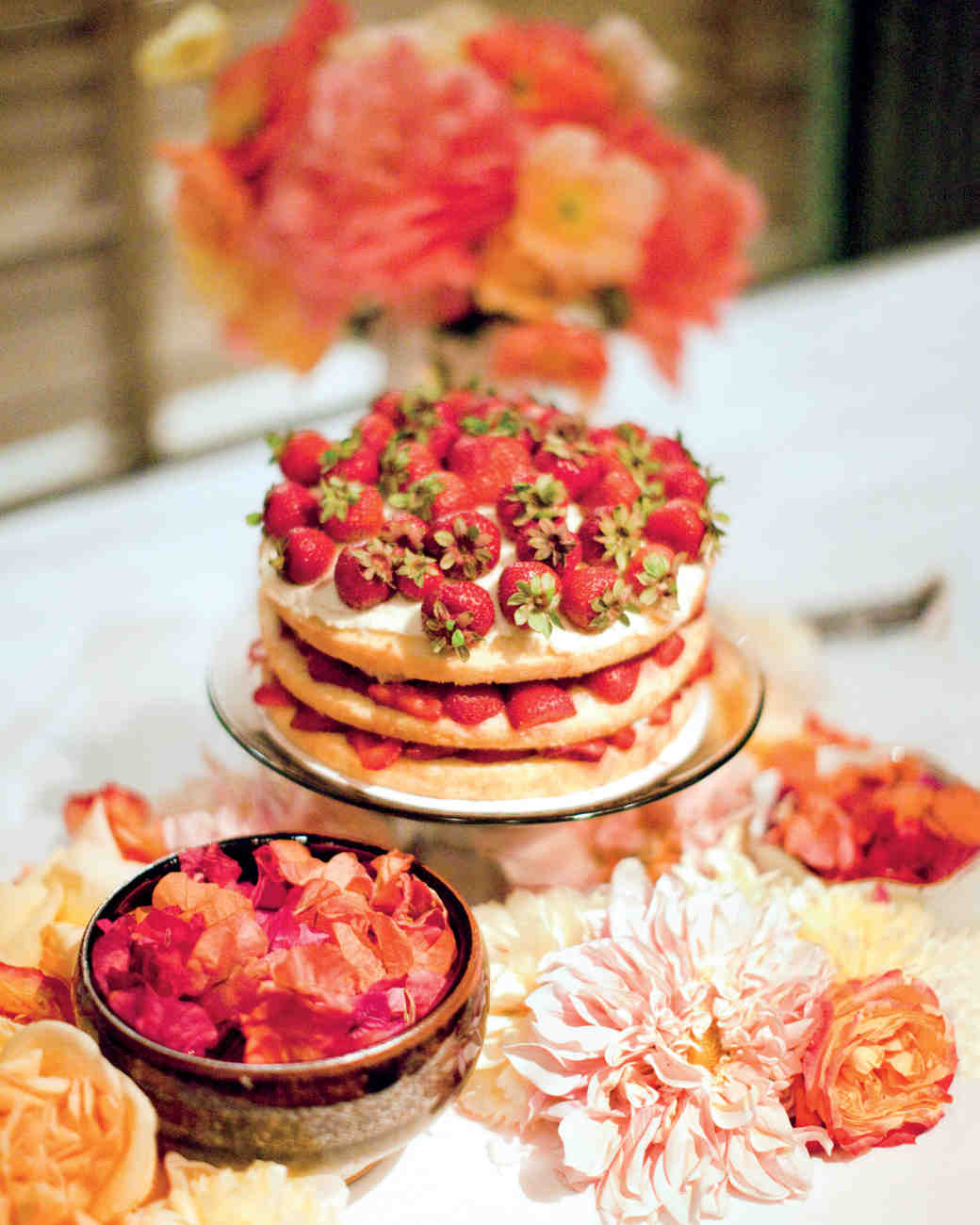 Strawberry Wedding Pound Cake