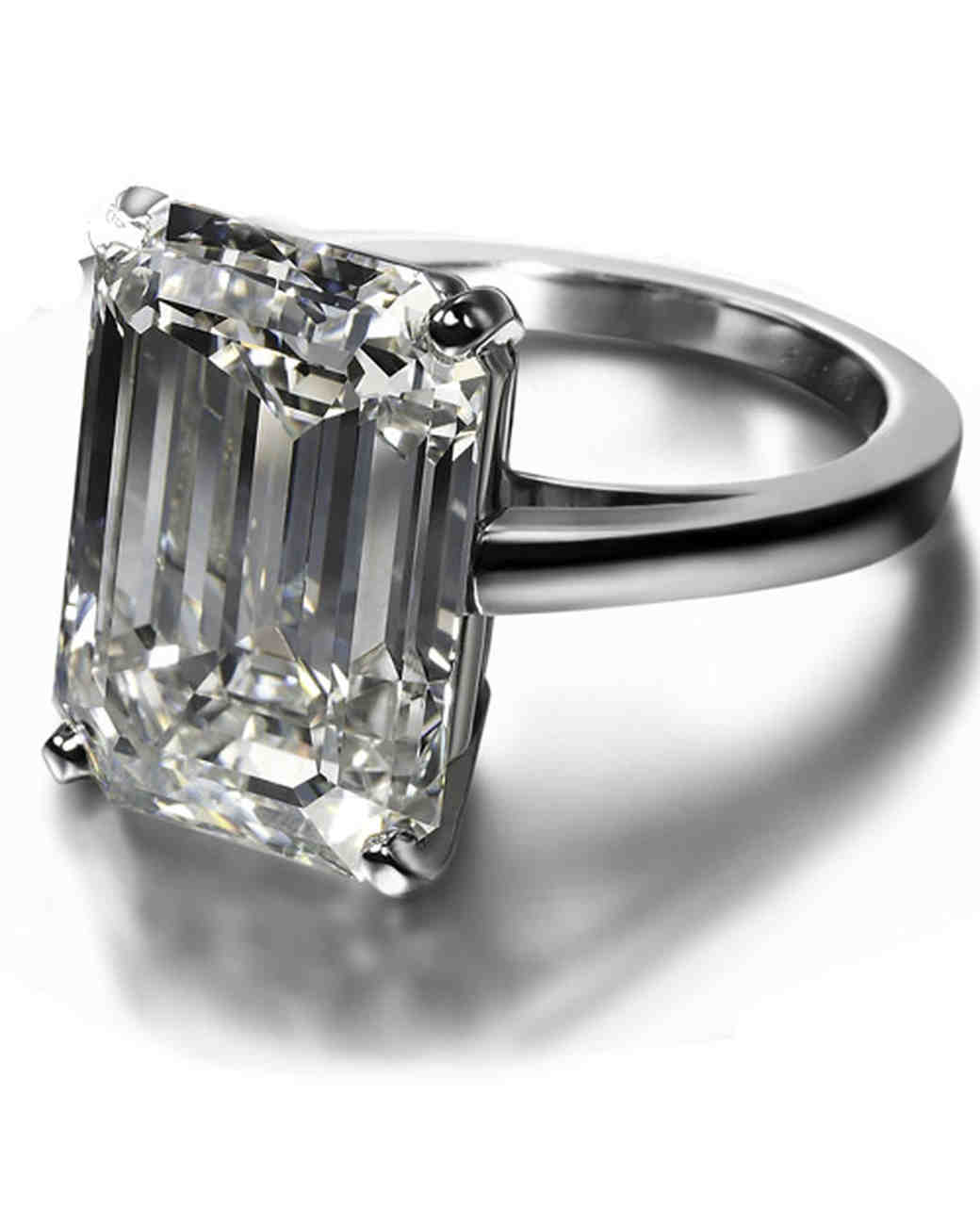 De Beers Emerald-Cut Engagement Ring
