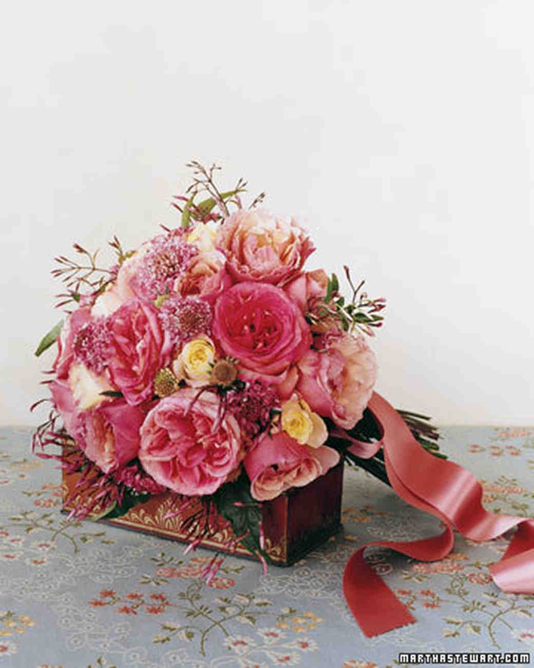 Red Garden Rose Bouquet wedding roses 101 | martha stewart weddings