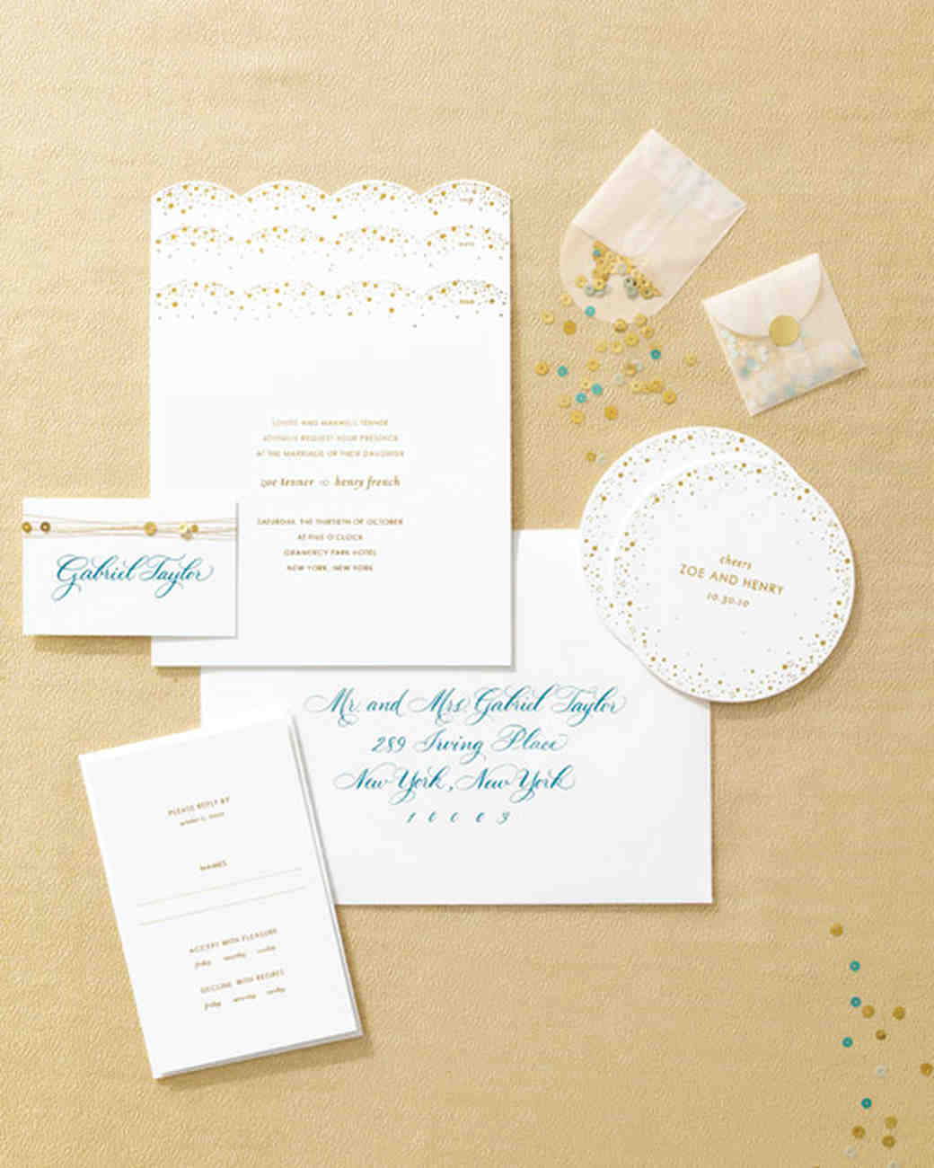 Great Wedding Invitations Inspired By Our Favorite Fashion Trends | Martha  Stewart Weddings