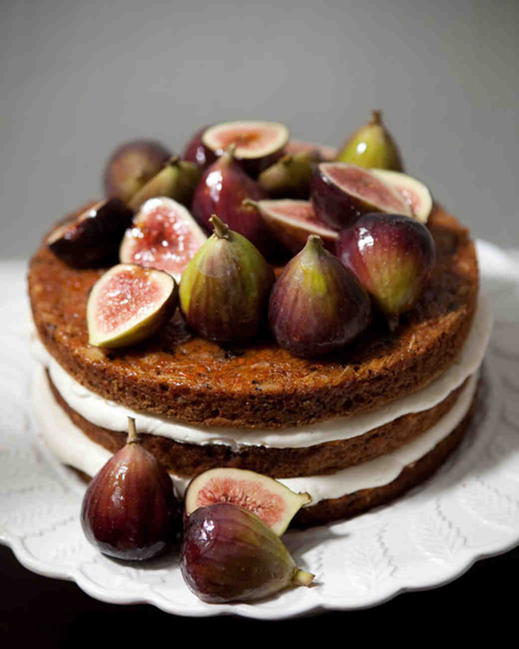 Naked Wedding Cake with Figs