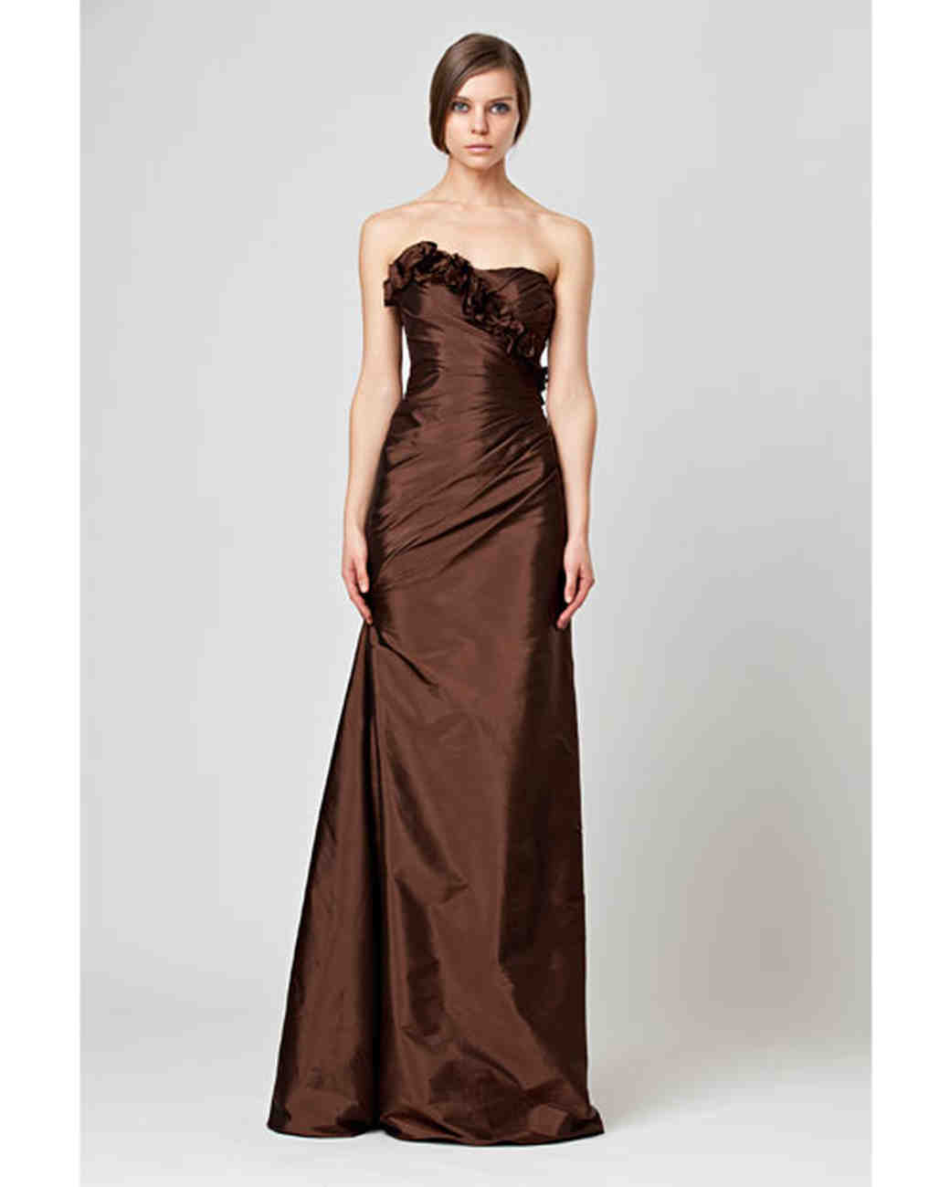 Brown bridesmaid dresses martha stewart weddings for Brown dresses for wedding