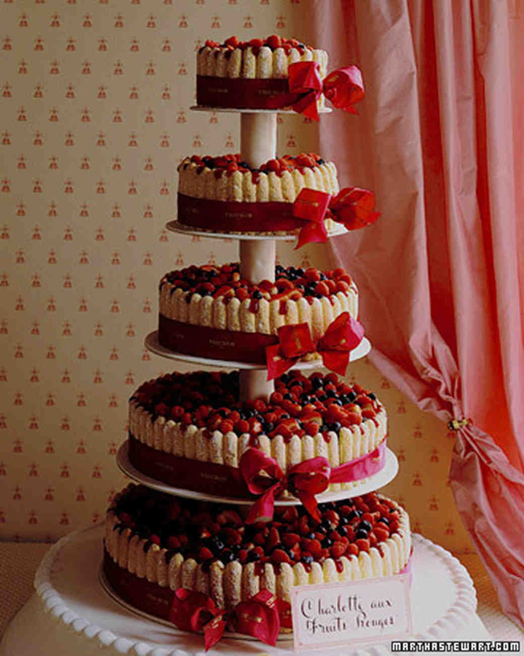 Berry and Ladyfinger Wedding Cake