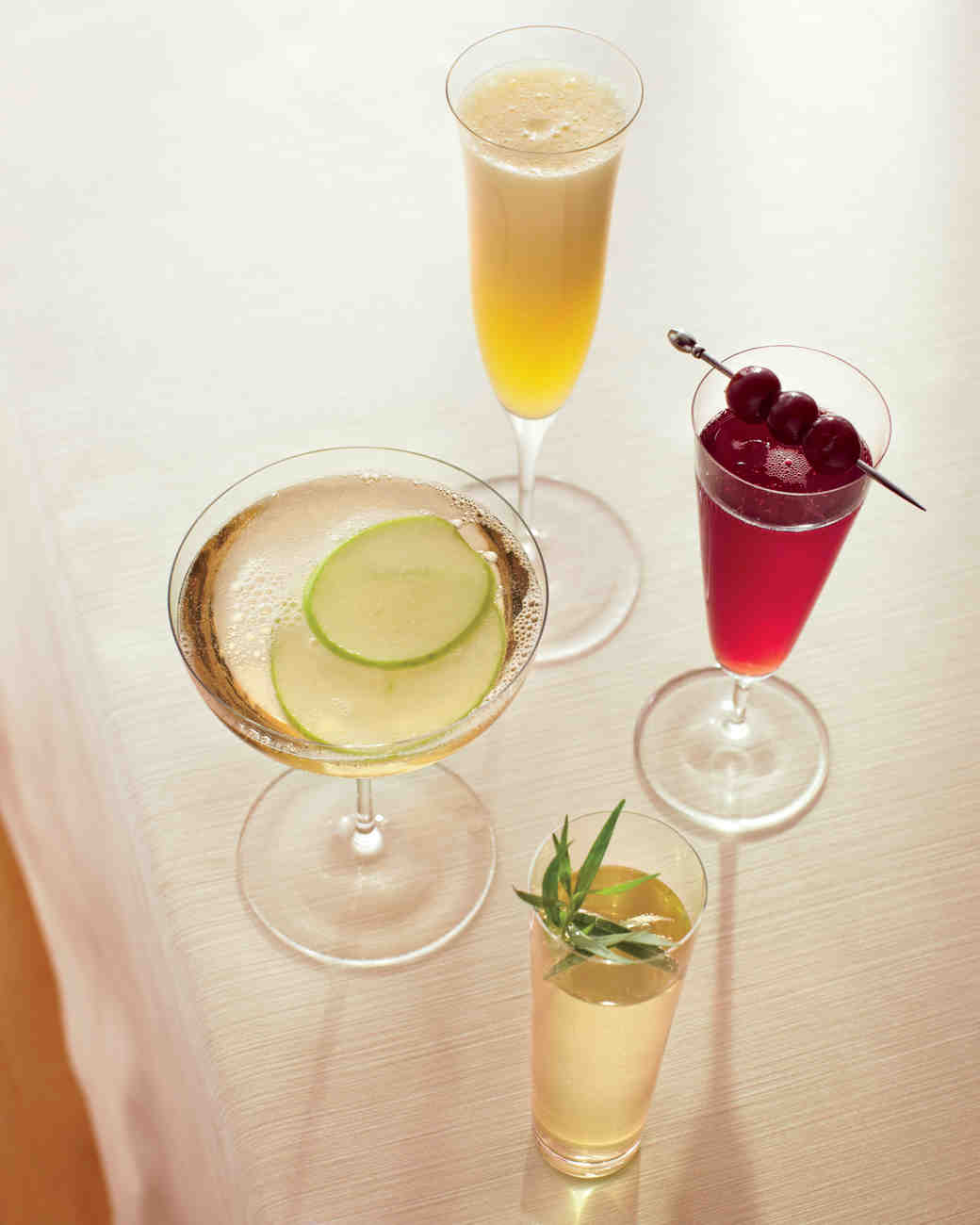 Champagne cocktail recipes for a bridal shower martha for Champagne mixed drinks