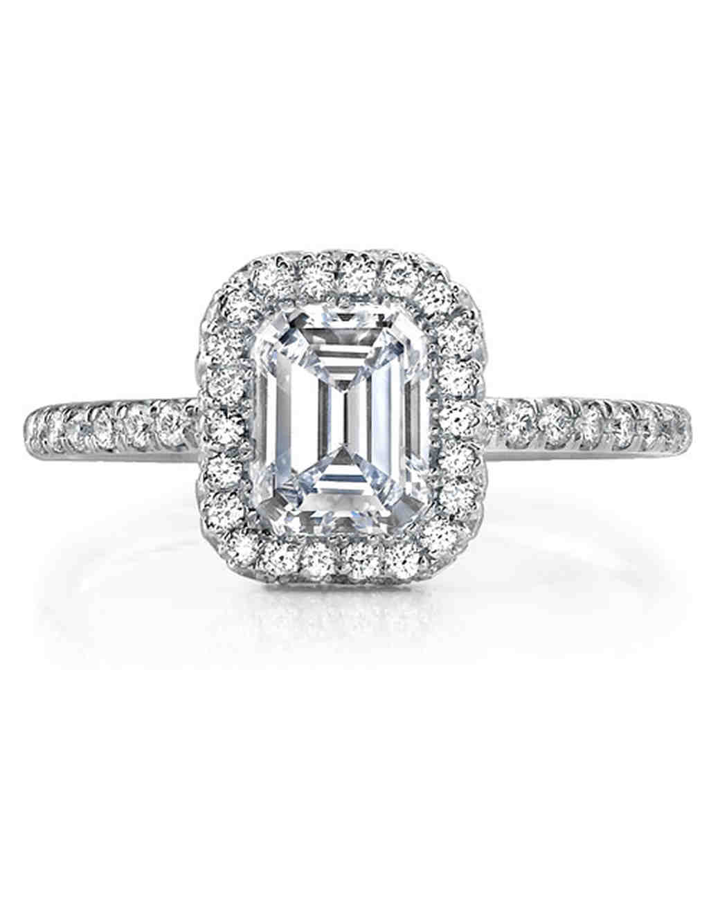 Jean Dousset Emerald-Cut Engagement Ring