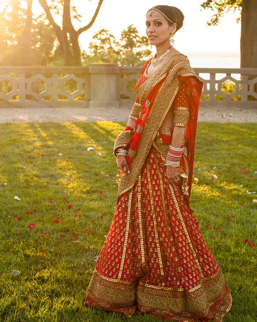 Top Red Wedding Attire With Indian Dress Up Games For Couples