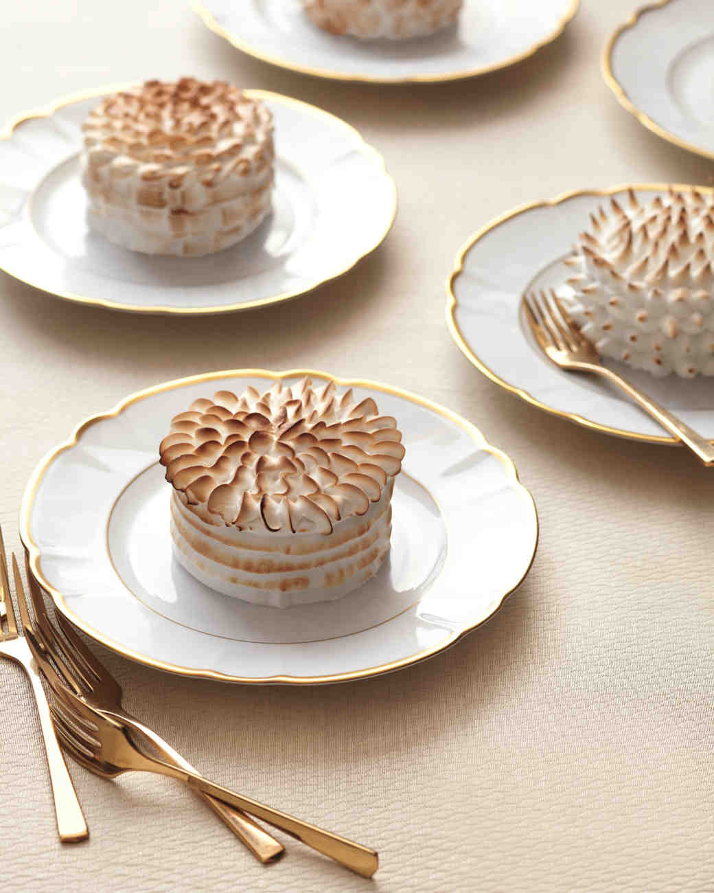 Mini Baked Alaskas Wedding Cakes