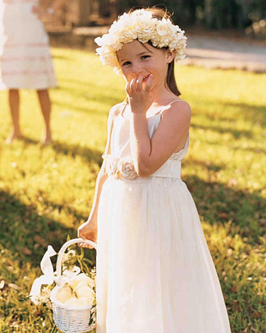 Wedding Flower Girl: An Ivory-Colored Outdoor Wedding In Charleston, South